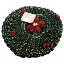 Knit Poinsettia Beret alternate view 3