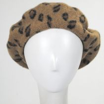 Leopard Wool Beret alternate view 2