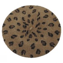 Leopard Wool Beret alternate view 3