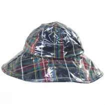 Plaid Wide Brim Rain Hat in