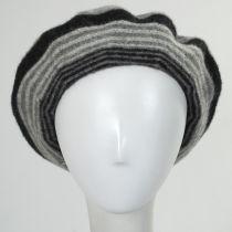 Stripe Wool Beret in