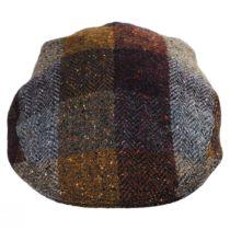 Herringbone Squares Donegal Tweed Wool Ivy Cap in