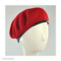 Wool Military Beret with Lambskin Band alternate view 134