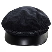 Leather Bill Cotton Fiddler Cap in