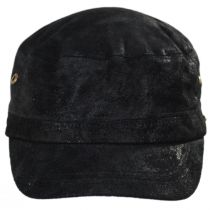 Weathered Leather Cadet Cap alternate view 2