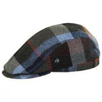 Donegal Tweed Wool Herringbone Patchwork Plaid Ivy Cap alternate view 3