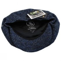 Harris Tweed Herringbone Wool Newsboy Cap in