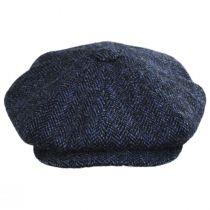 Harris Tweed Herringbone Wool Newsboy Cap in