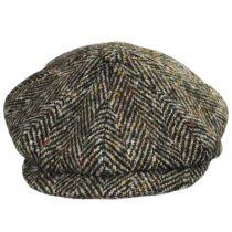 Donegal Tweed Large Herringbone Wool Newsboy Cap alternate view 2