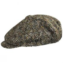 Donegal Tweed Large Herringbone Wool Newsboy Cap in