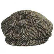 Donegal Tweed Large Herringbone Wool Newsboy Cap alternate view 6