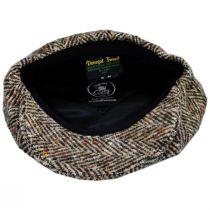 Donegal Tweed Large Herringbone Wool Newsboy Cap alternate view 8