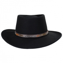 Kelso Crushable Wool Felt Gambler Western Hat alternate view 2