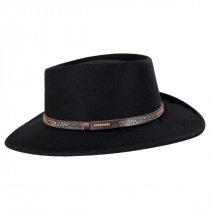 Kelso Crushable Wool Felt Gambler Western Hat alternate view 11