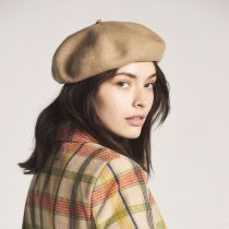 Audrey Satin Lined Wool Beret alternate view 48