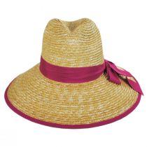 Celine Milan Straw Downbrim Fedora Hat alternate view 2