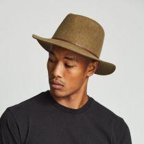 Wesley Heathered Wool Felt Floppy Fedora Hat in