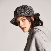 Hardy Leopard Wool Blend Bucket Hat alternate view 5