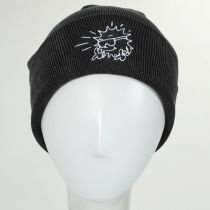 Nowhere Cotton Knit Embroidered Beanie Hat alternate view 3