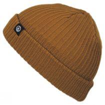 Fisherman Rib Knit Cotton Blend Beanie Hat in