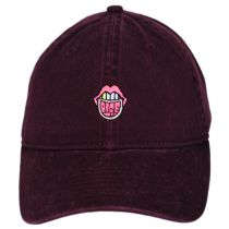 Larry Bite Me Embroidered Strapback Baseball Cap Dad Hat in