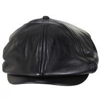 Brood Leather Newsboy Cap in