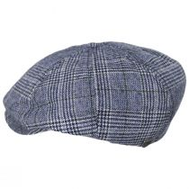 Brood Plaid Wool Blend Newsboy Cap in