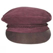 Kayla Leather Suede Fiddler Cap alternate view 14