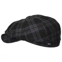 Classic Plaid Wool and Silk Blend Newsboy Cap alternate view 3