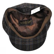 Classic Plaid Wool and Silk Blend Newsboy Cap alternate view 4