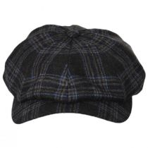 Classic Plaid Wool and Silk Blend Newsboy Cap alternate view 6