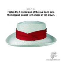 Paradise 3 Pleat Cotton Hatband