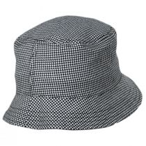 Houndstooth Reversible Cotton and Wool Blend Bucket Hat alternate view 3