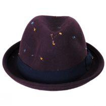Slub Wool Felt Classic Fedora Hat alternate view 2