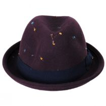 Slub Wool Felt Classic Fedora Hat alternate view 34