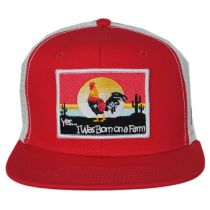 Born on a Farm Snapback Trucker Baseball Cap alternate view 2