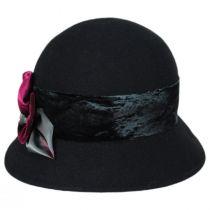 Pansy Wool Felt Cloche Hat alternate view 2
