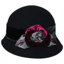 Pansy Wool Felt Cloche Hat alternate view 3