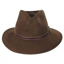 Leather Band Wool Felt Fedora Hat alternate view 2
