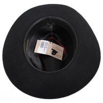 Buck Fur Felt Wide Brim Fedora Hat in