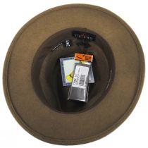 Cliff Crushable Wool Felt Fedora Hat in