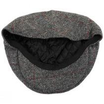 Cosmo Herringbone Plaid Wool Blend Ivy Cap in