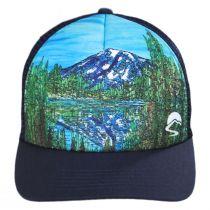 Alpine Reflection Trucker Snapback Baseball Cap alternate view 2