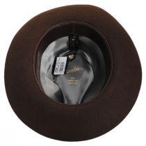 Alessandria Shaved Fur Felt Wide Brim Fedora Hat in