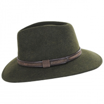 Hiker Wool Felt Safari Fedora Hat alternate view 11