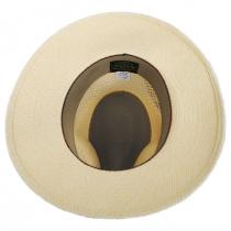 Bethpage Vent Crown Panama Straw Safari Fedora Hat alternate view 11