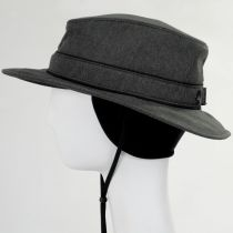 Alpine Herringbone Earflap Fedora Hat in
