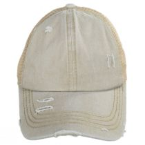 High Ponytail Distressed Mesh Trucker Baseball Cap alternate view 2