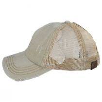 High Ponytail Distressed Mesh Trucker Baseball Cap alternate view 3