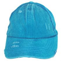 High Ponytail Distressed Mesh Trucker Baseball Cap alternate view 22